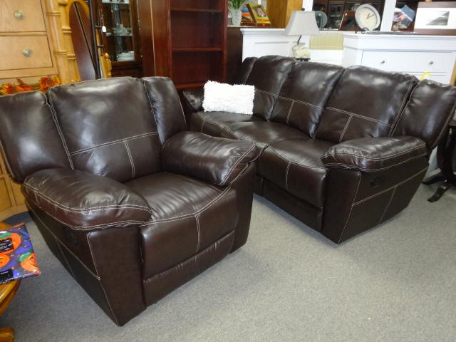 Brown Sofa and Chiar Image