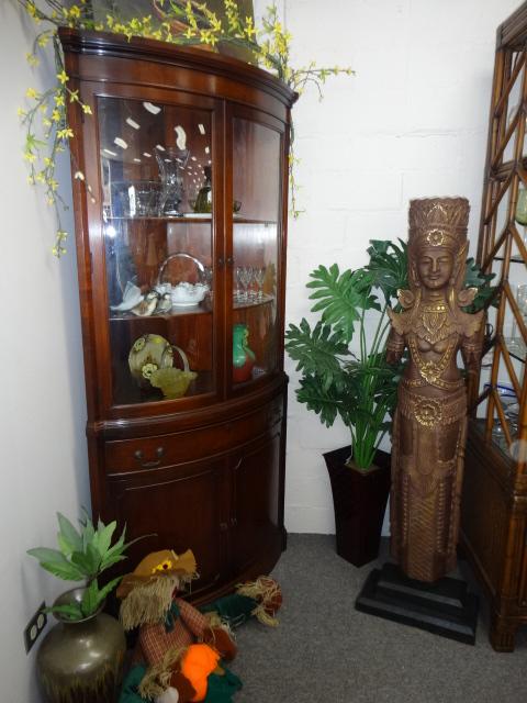 Mahogany Corner Curio Image