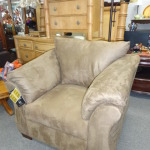 Taupe Microfiber Chair