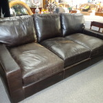 CLASSIC!  Brown Leather Sofa