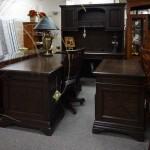 Desk & Desk W/Hutch/File Cabinet
