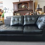 NEW Black Chaise Sofa