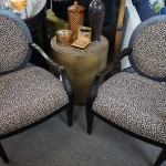 2 Leopard Patern Side Chairs