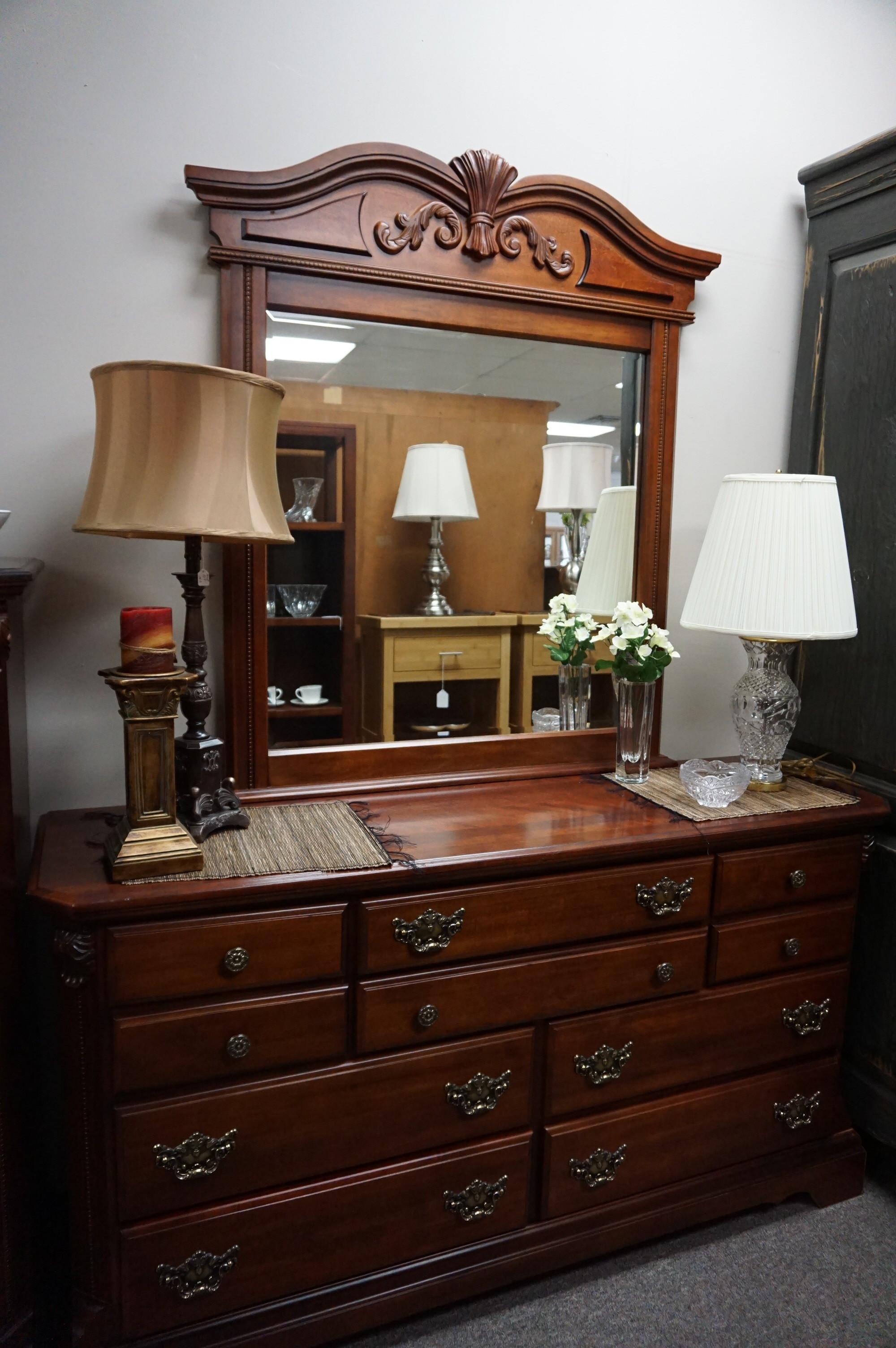 Cherry Dresser & Mirror