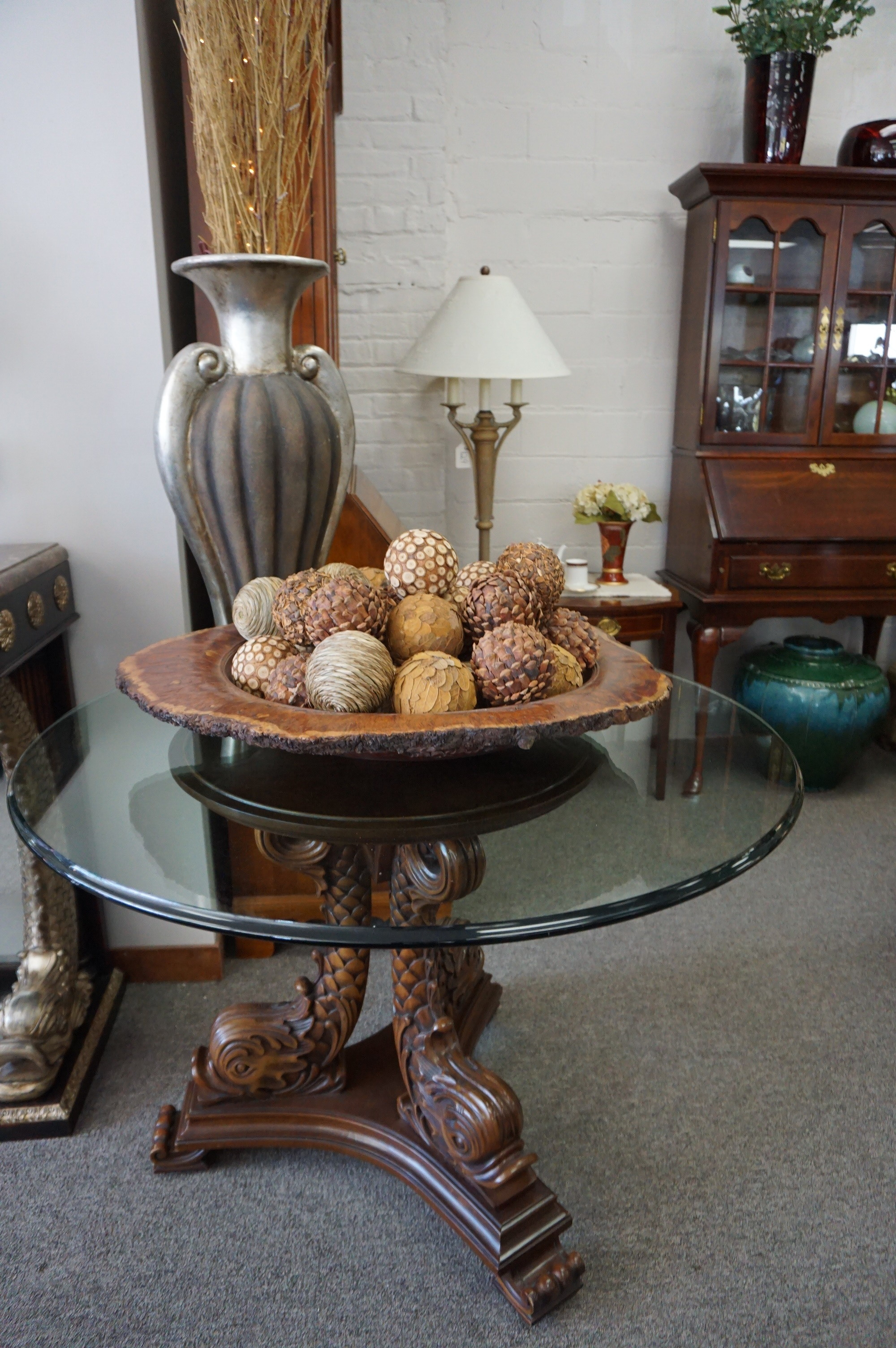 """41"""" Round Glass Table"""