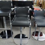 3 Leather Adjustable Stools