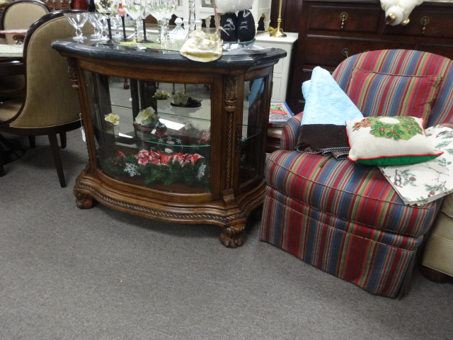 Commode Size Curio Cabinet