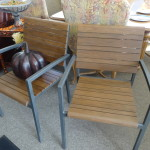 2 Wood & Metal Side Chairs
