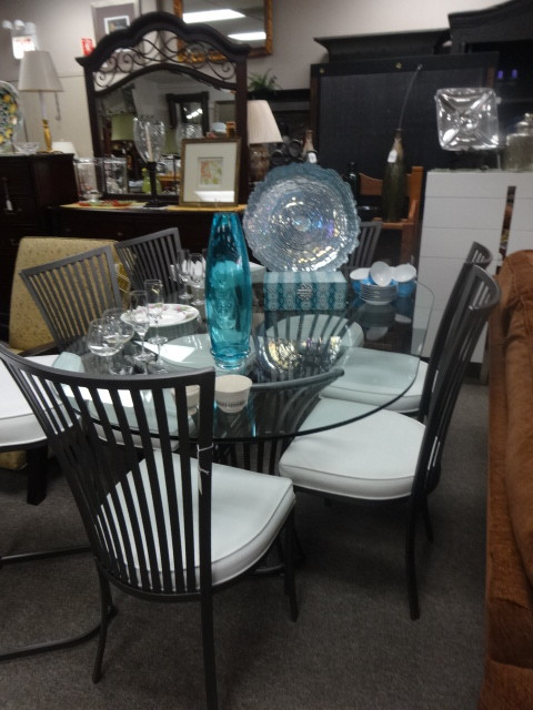 NEW ARRIVALS Glass Table 6 Chairs